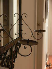 FRENCH STYLE WROUGHT IRON MIRROR with CANDLE HOLDER NEW quality