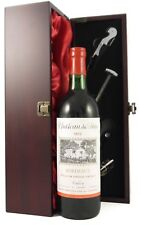 Chateau Du Parc 1973 Bordeaux presented in silk lined gift box with accessories