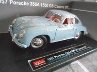 PORSCHE 356A 356 Coupe 1500 GS Carrera GT 1957 blue blau Sunstar 1:18