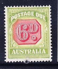 AUSTRALIA 1938 SGD117 Postage Due 6d carmine & green - P141/2x14 - m/m. Cat £75