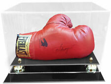 Horizontal Boxing Glove Display Case With Gold Risers