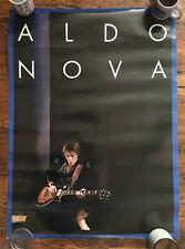 Rare Aldo Nova Original 1982 Cbs Records Promo Poster Self Titled