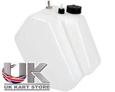 Petrol / Fuel Tank 7.5 Litre Push Through Type Black Caps Go Kart