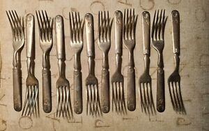 Forbes Silver plate Forks with Masonic Emblem.