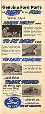 1952 vintage Auto Parts AD, FORD PARTS Genuine Road tests  -011515