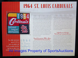 ST LOUIS CARDINALS 1964 NL CHAMPIONS PATCH Willabee Ward CHAMPIONSHIP COLLECTION