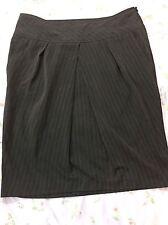 Women's John Paul Richard Chic Skirt, Black Striped size 14