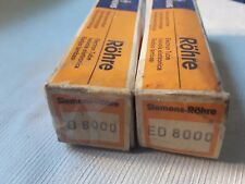 Pair ED8000 Siemens Tubes All <> Telefunken For SE Single-Ended Or OTL Amplifier