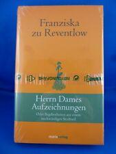 Herrn Dames Aufzeichnungen von Franziska zu Reventlow ( Gebundene Ausgabe)