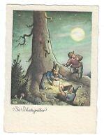 """AK, Künstlerkarte, """"Die Schatzgräber"""", Wichtel, Baum, Schatz, Ernst Fay Karte"""