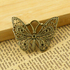2Pcs Antiqued Bronze Hollow Butterfly Charms Pendants 35x48mm A4106