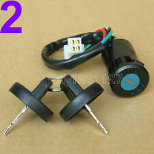 4 Wire Ignition Key Barrel Switch For 50cc 110cc 125cc 250cc PIT Quad Dirt Bike