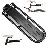 Black Aluminum Bicycle Cycling Bike Carrier Rear Rack Seat Post Luggage 15kg