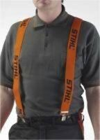 STIHL ORANGE ARBORIST CHAINSAW TROUSER BRACES CLIPS 110cm