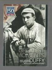 2019 Topps Update 150 Years of Baseball Black #15064 Hugh Duffy (ref 72191)