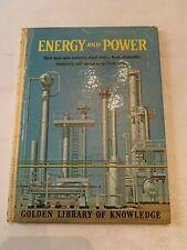 1962 Energy And Power by L Sprague de Camp Golden Press Hardcover