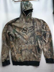 FOX REALTREE Racing Mens Camoflauge Zip Up Hooded Jacket Size Medium