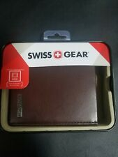 Swiss Gear Brown leather Mens Bookfold Wallet  NEW