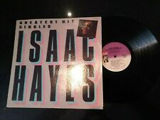 """ISAAC HAYES """"GREATEST HIT SINGLES"""" 1987 STAX USA LP (SHAFT)"""