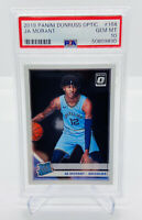 2019-20 PANINI DONRUSS OPTIC JA MORANT BASE #168 ROOKIE/RC PSA 10 GEM ZION PRIZM