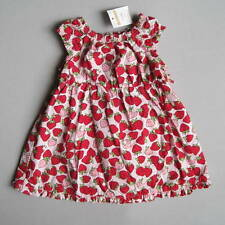 NWT Gymboree Outlet LITTLE STRAWBERRY Girls 3 6 Mo Dress Set Pink Red