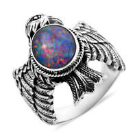 BALI LEGACY 925 Sterling Silver Opal Solitaire Ring Gift Jewelry Size 6 Ct 2.8