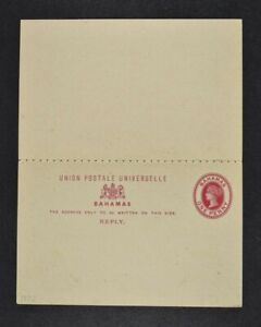 BAHAMAS, a collection of three (3) Victorian postal stationery items.