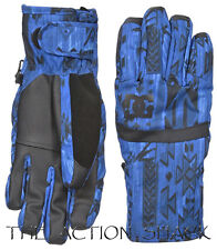 D1264 • DC Seger Snow Gloves • NWT Womens Juniors Medium Blue / Tribal • #28038
