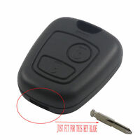2 Button Remote Key Fob Case Shell Cover for Peugeot 307 207 407 without Blade