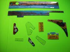 Maverick Data East Pinball Machine Original Playfield Plastics Shields Lot Of 10