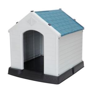 ZENY Medium Pet Doghouse Puppy Plastic Indoor Outdoor Dog House