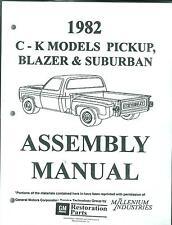 1982 CHEVY TRUCK C & K SERIES PICKUP, BLAZER & SUBURBAN  ASSEMBLY MANUAL