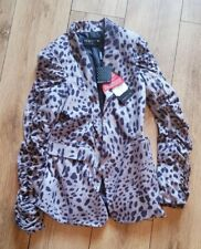 Ladies 'MAGGIE & ME' Leopard pattern casual jacket. Size 12. NEW.