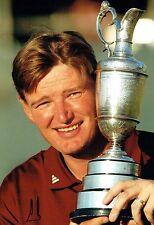 Ernie ELS SIGNED AUTOGRAPH 12x8 Photo 3 AFTAL COA 2002 Muirfield Golf Winner
