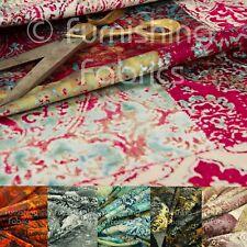 Nuevo Terciopelo Suave impresa Patchwork patrón de Damasco tradicional Tela de tapicería