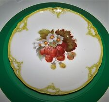"""KPM  7-1/2"""" CABINET PLATE,STRAWBERRIES,  SCEPTRE AND IRON CROSS MARKS"""