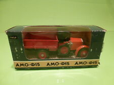 MADE IN USSR CCCP RUSSIAN AMO F15 PICKUP - RED BLACK 1:43 - VERY GOOD IN BOX