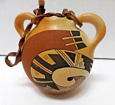Hopi - Tewa Pottery Canteen with Handles by Dorothy Ami- First Mesa Arizona
