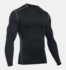 42cbda4668d 2016 Under Armour CG ColdGear Compression Mock Men s Shirt Baselayer Black  XL