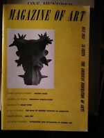 MAGAZINE OF ART, MAY 1953 FINAL ISSUE, FOUNDED IN 1909
