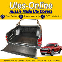 Checker Plate Rubber Ute Mat For MITSUBISHI MQ/MR TRITON DUAL CAB UTE Truck
