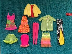 Vintage Barbie MOD CLOTHES LOT - EUC