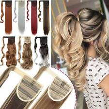 Magic Ponytail Clip In Real as Human Hair Extensions Wrap Around Pony Tail THICK