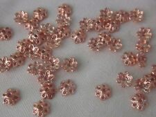 50 Rose Gold 6x2mm Flower Bead Caps bc3100 Combine Postage-See Listing