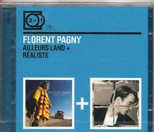2 CD FLORENT PAGNY   AILLEURS LAND + REALISTE  EDIT 2 FOR1  NEUF  SCELLE