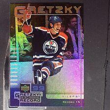 WAYNE GRETZKY 1999-00 UD McDonald's Performance Record #15  Edmonton Oilers  HOF