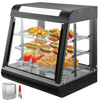 """Commercial Food Warmer Court Heat Food Pizza Display Warmer Cabinet 27""""Glass SUS"""