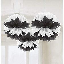 Amscan Black & White Fluffy Decoration