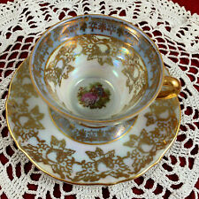 Bavaria Tirschenreuth Germany Iridescent Courting Couple Teacup - Vintage Z & Co