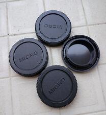 3 x Rear Lens Cap+ 1x Front body cap cover for Olympus Lumix Micro 4/3 M4/3